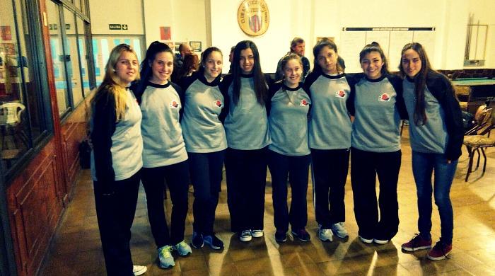 Parte del equipo. Las chicas del U17 de la Venadense.